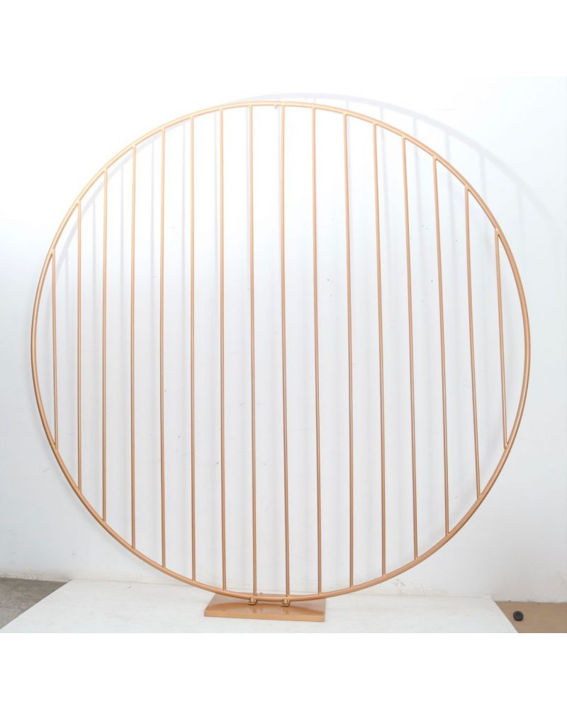 Gold 180cm Straight Bar Circle Backdrop stand (in stock)