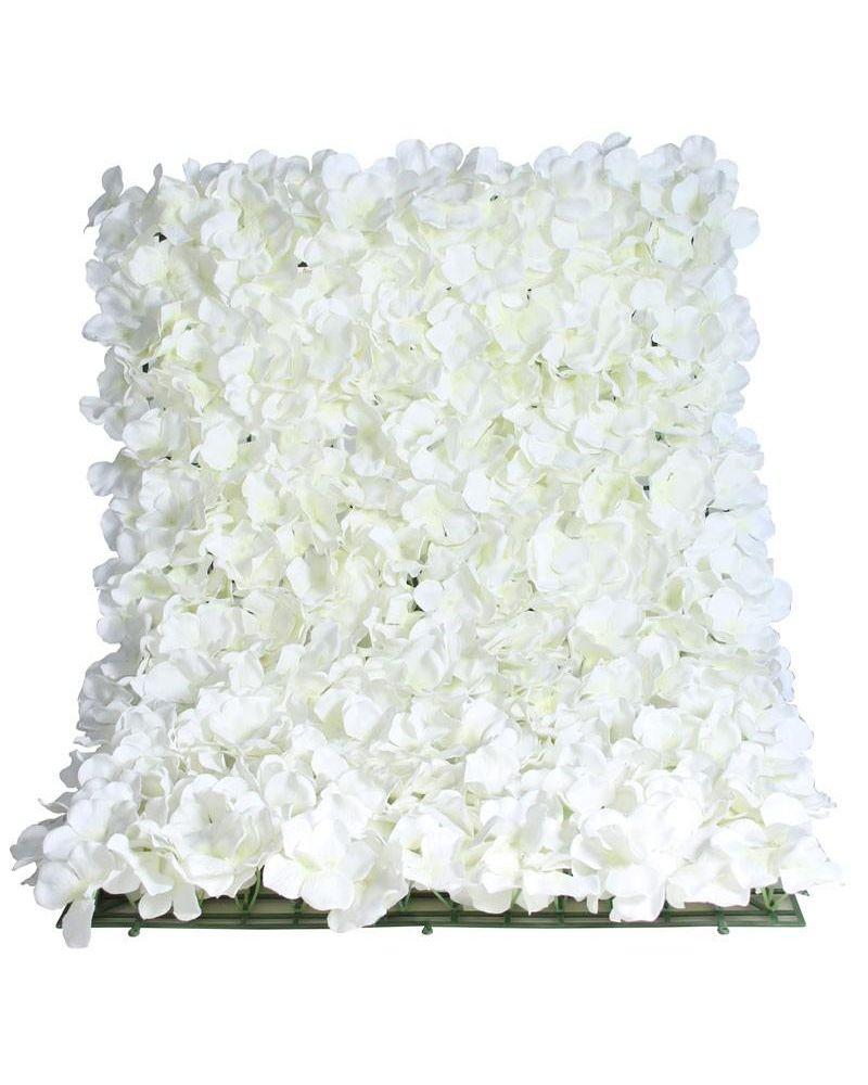 White Hydrangea Flower Wall Panel 40x60cm
